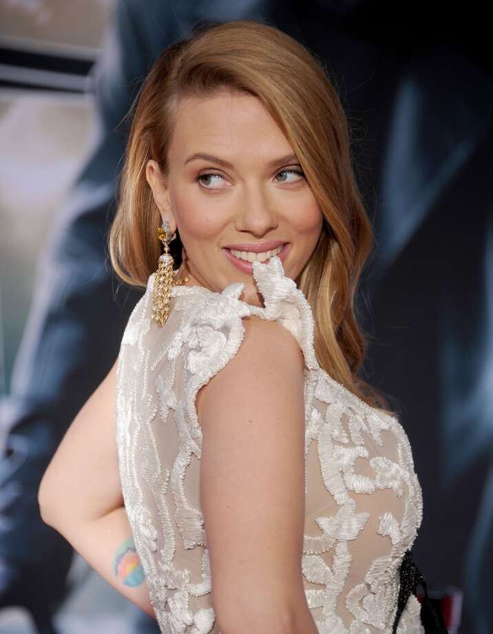 "Actress Scarlett Johansson arrives at the Los Angeles premiere of ""Captain America: The Winter Soldier"" at the El Capitan Theatre on March 13, 2014 in Hollywood, California.  (Photo by Gregg DeGuire/WireImage) Photo: Gregg DeGuire, WireImage"