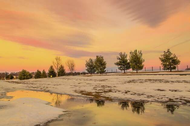 """Winter Glow Over The Crossings Philip Yin Colonie """"I don't need to go far to find Nature's beauty. It is right there in my back yard."""""""