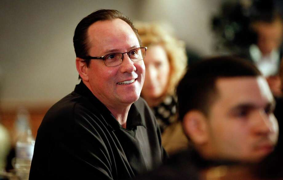 Wichita State head coach Gregg Marshall smiles as Wichita State earns a No. 1 seed during an NCAA college basketball Selection Sunday watch party, Sunday, March 16, 2014, in Wichita, Kan. (AP Photo/The Wichita Eagle, Jaime Green) ORG XMIT: KSWIE103 Photo: Jaime Green / The Wichita Eagle