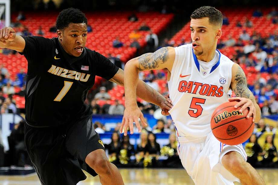 Point guard Scott Wilbekin, the SEC Player of the Year, leads No. 1 overall seed Florida. Photo: Dale Zanine, Reuters
