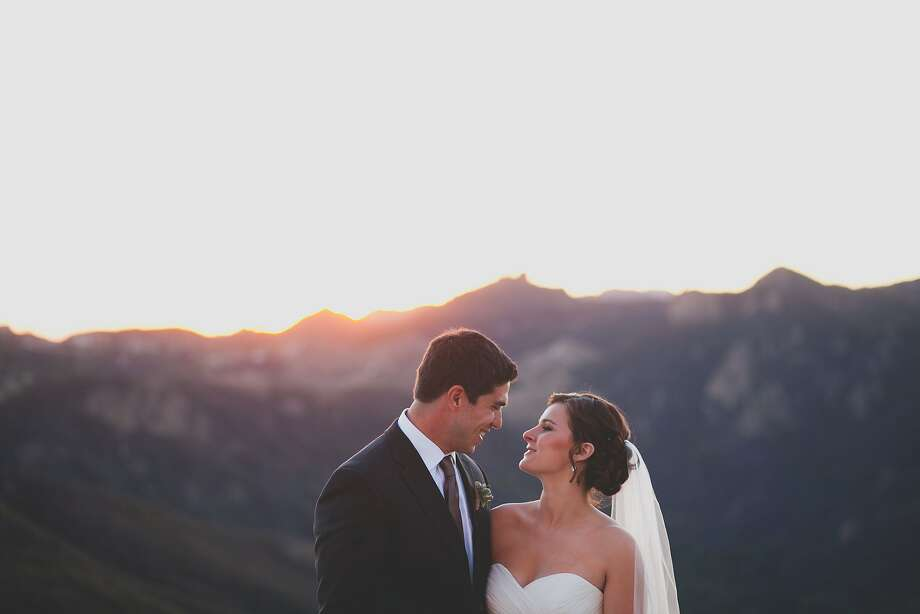 Matt Quintero and Katelyn Bollenbacher were schoolmates who discovered, in high school, that they are also soul mates. They married in October in Malibu. Photo: Mary Chrisman/Floataway Studios