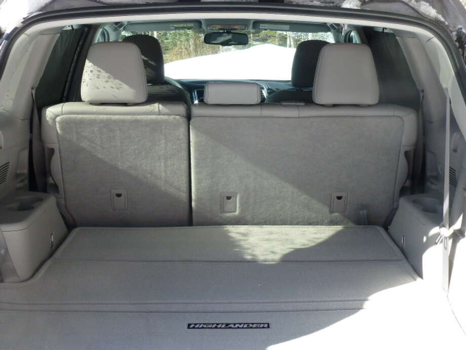 The Highlander has 42 cubic feet of cargo space behind the second row of seats, and nearly 84 cubic feet when the second and third rows are down.