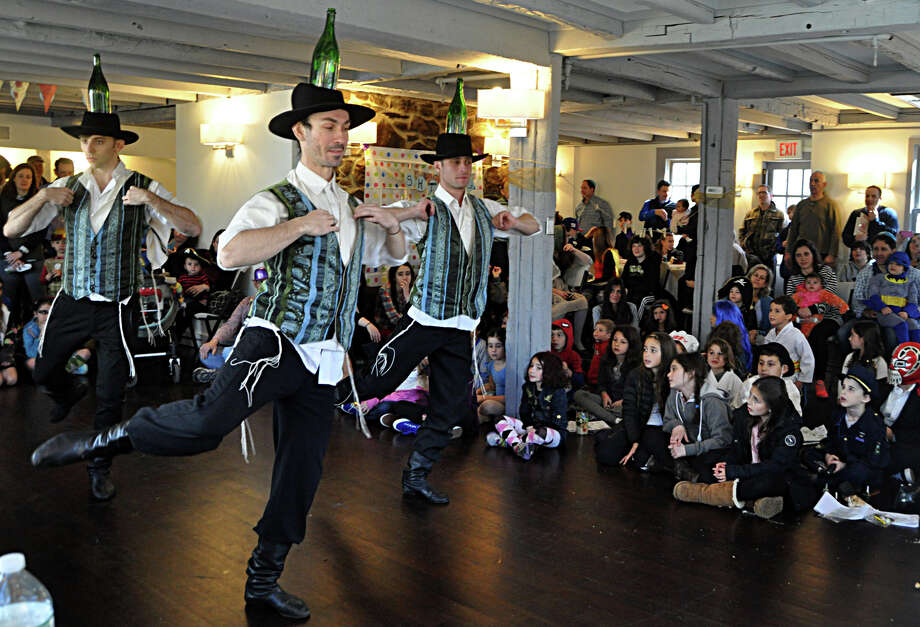 "Barynya, a Russian music, dance and song ensemble, performs at the Chabad Lubavitch of Westport ""Purim in the Shtetl"" event Sunday. Photo: Nancy Guenther Chapman / Westport News"
