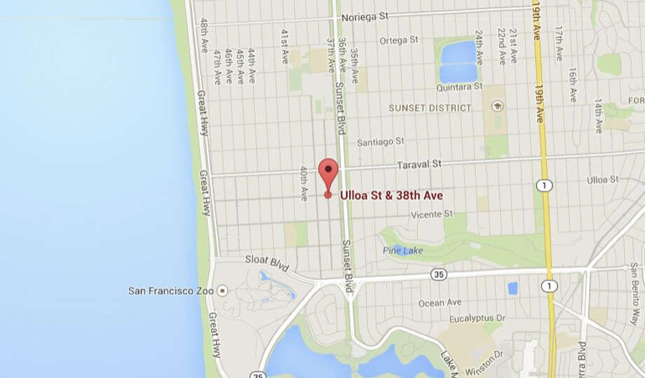 Ulloa and 38th Ave., San Francisco, CA Photo: Google Maps
