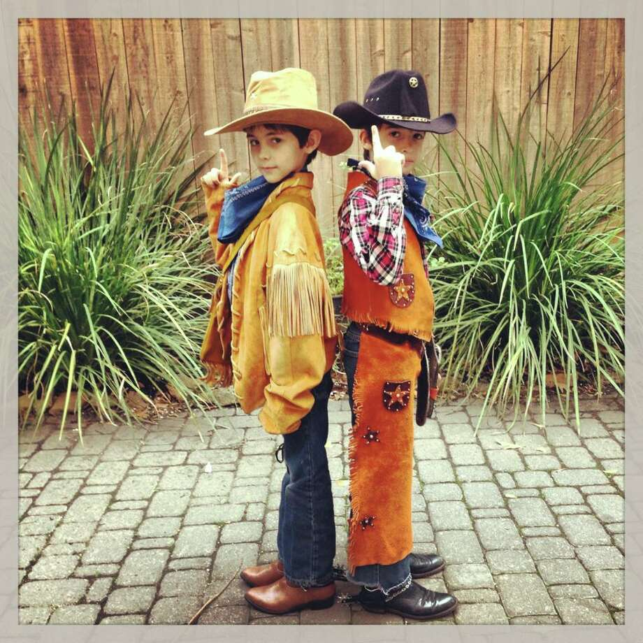 Ari and Christian dressed up for Go Texan day at school.Lisa Mangos