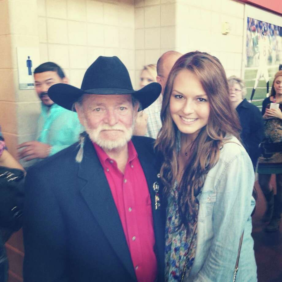 Congratulations to Allison Floyd, who received the most reader votes in our Houston Rodeo Photo Contest, although we all know that's not Willie Nelson. Floyd will receive a $500 gift card from Cavender's. Take a look at the rest of the top 20 finalists. Last year at the rodeo while attending the George Strait concert I was lucky enough to run into 'Willie Nelson' in the lobby! He was so sweet to take a photo with me :)) Allison Floyd