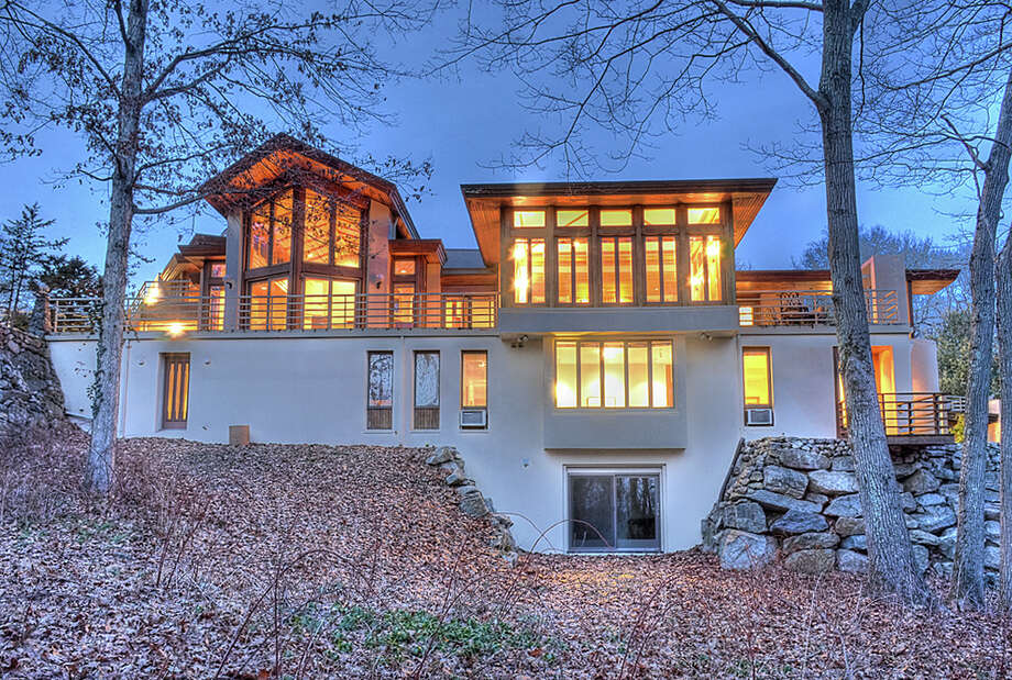 A Mediterranean-style mountainside villa at 269 Dans Highway in New Canaan is on the market for $3,000,000. Photo: Contributed Photo, Contributed / New Canaan News Contributed
