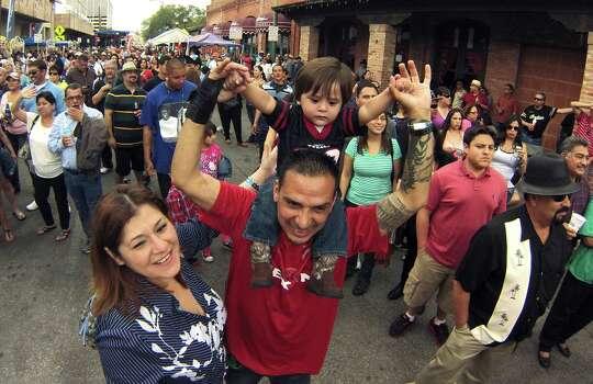 Jesse and Brenda Salinas attend the Tejano Music Awards Fan Fair 2014