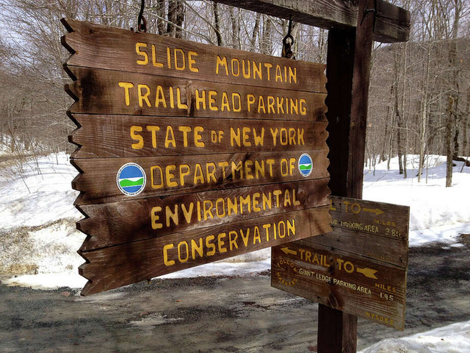 The trailhead leading to the highest mountain in the Catskills.  Read more about the hike.  Photo: Sonja Stark