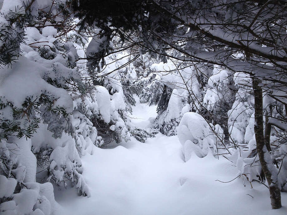 Thick snow on the way up Balsam Lake Mountain. Read more about the hike. Photo: Sonja Stark