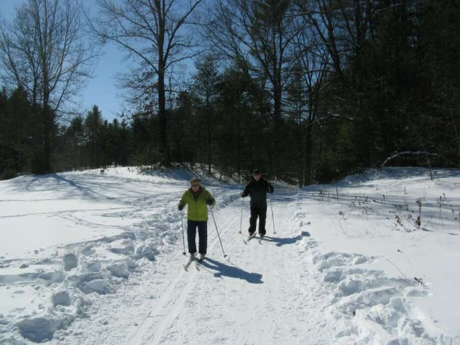 While Herb was climbing Pharaoh Mountain, Gillian Scott took her parents cross-country skiing with her at Wilton Wildlife Preserve. Read more in the Outdoors blog. Photo: Gillian Scott