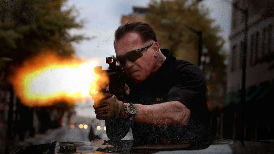 "Arnold Schwarzenegger in ""Sabotage,"" possibly the grittiest and most brutal of his action films. Photo: Open Road"