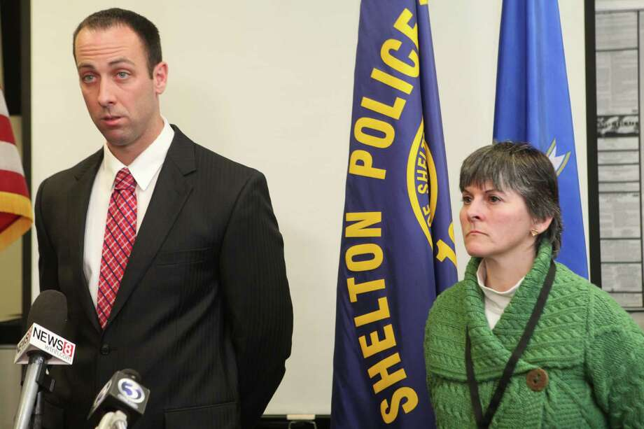 Shelton Police Lieutenant Robert Kozlowsky speaks at a press conference on Monday, March 17, 2014 as police investigate a shooting of 15 year old Kristjan Ndoj on Saturday night. Shelton High School's headmaster,  Dr. Beth Smith stands right. Photo: BK Angeletti, B.K. Angeletti / Connecticut Post freelance B.K. Angeletti