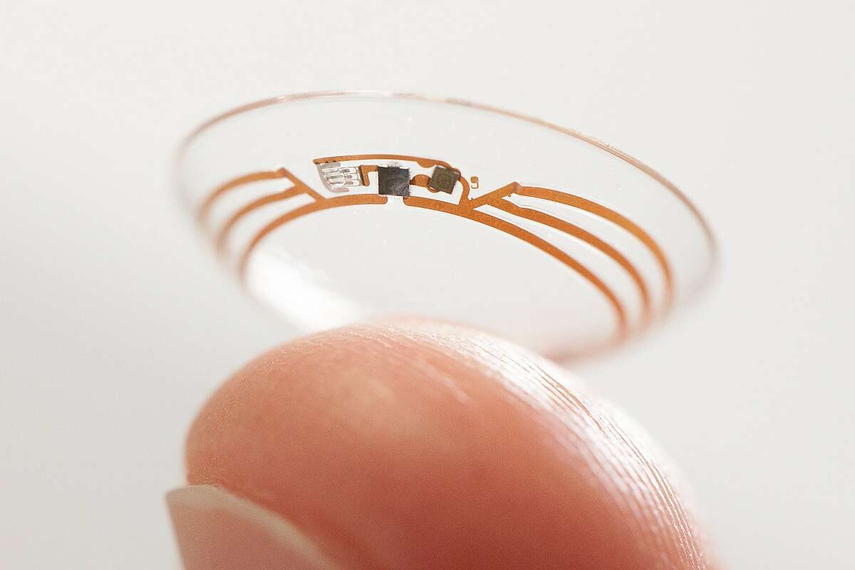 This handout photo obtained January 17, 2014, courtesy of Google shows a smart contact lens. The Google lab known for working on unusual projects like self-driving cars is crafting a contact lens that could help diabetics manage blood sugar levels.