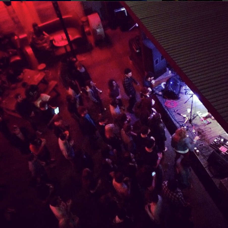 A gathering crowd for Beaumont rockers Jenny & the Reincarnation at Tequila Rok. Photo from @thecatfive on Instagram
