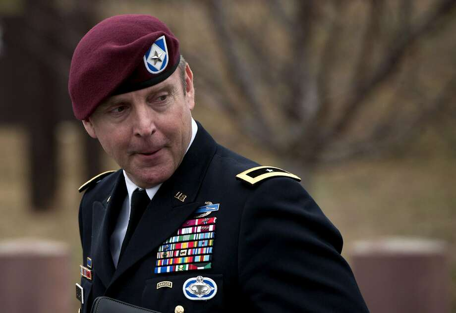 Brig. Gen. Jeffrey Sinclair leaves the courthouse after his plea deal was accepted and sexual assault charges were dropped. Photo: Davis Turner, Getty Images