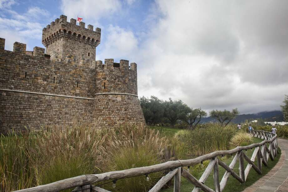 Outside view of Castello di Amorosa, a winery located in Calistoga that is a replica of a European medieval castle, on September 30th 2013. Photo: Special To The Chronicle