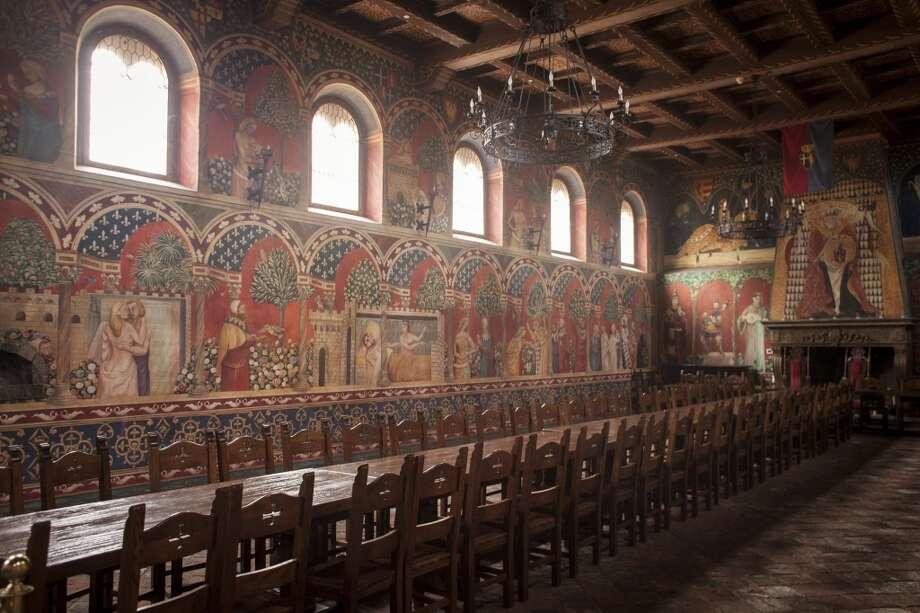 Hand painted frescoes in the dinning room at Castello di Amorosa, a winery located in Calistoga that is a replica of a European medieval castle, on September 30th 2013. Photo: Special To The Chronicle