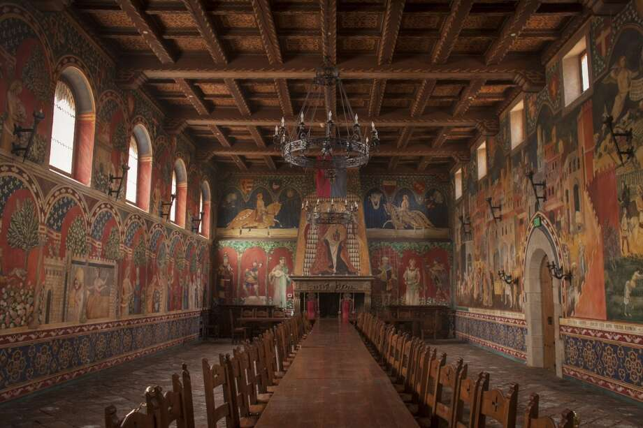 Hand painted frescoes in the dinning room at Castello di Amorosa, a winery located in Calistoga that is a replicated European medieval castle, on September 30th 2013. Photo: Special To The Chronicle