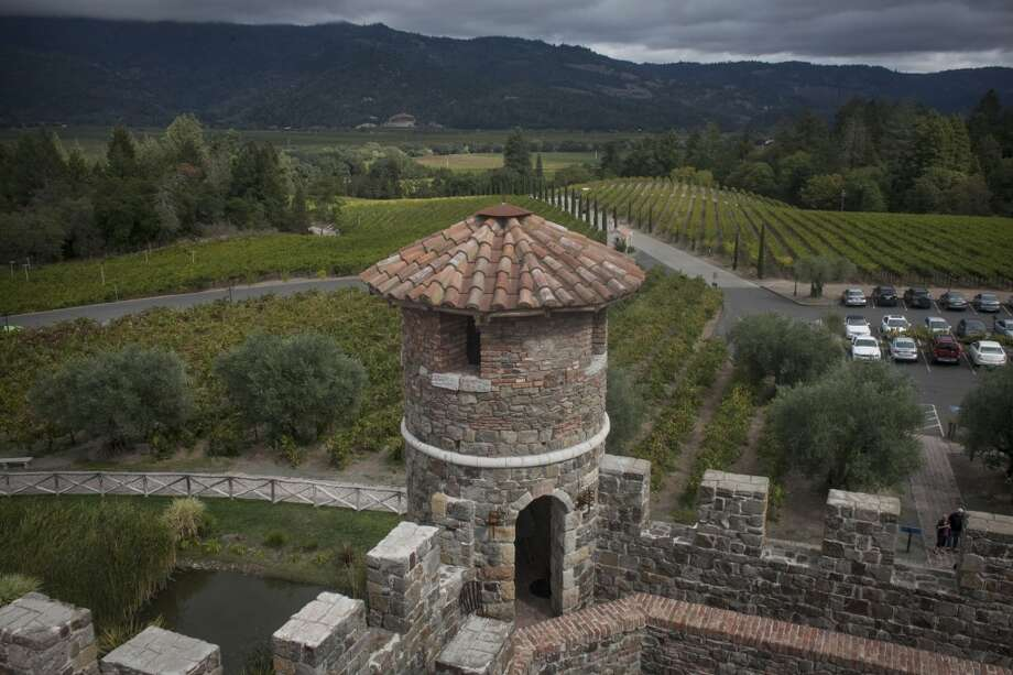 Outside view of Castello di Amorosa, a winery located in Calistoga that is a replicated European medieval castle, on September 30th 2013. Photo: Special To The Chronicle