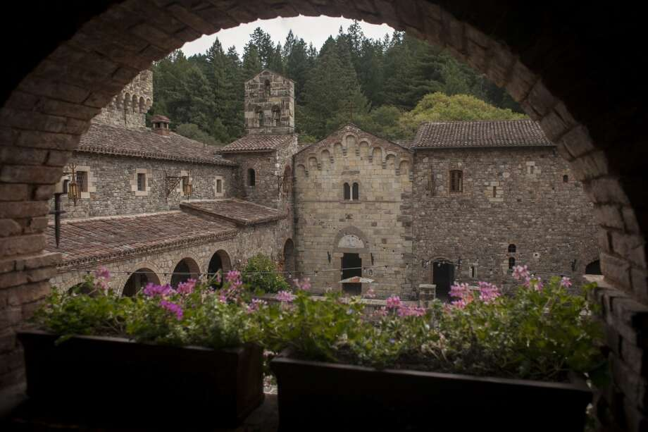 View through an arch on the second level of Castello di Amorosa, a winery located in Calistoga that is a replicated European medieval castle, on September 30th 2013. Photo: Special To The Chronicle