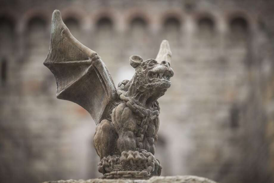 A gargoyle at Castello di Amorosa, a winery located in Calistoga that is a replicated European medieval castle, on September 30th 2013. Photo: Special To The Chronicle