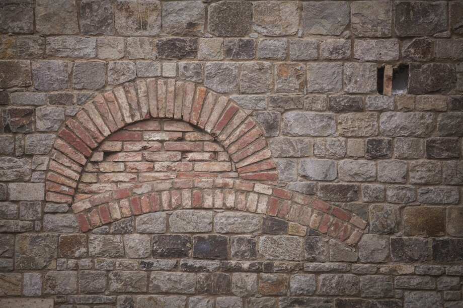 A wall at Castello di Amorosa, a winery located in Calistoga that is a replica of a European medieval castle, on September 30th 2013. Intentional mistakes where put into wall of the castle to give it a sense of history. Photo: Special To The Chronicle