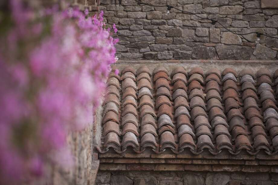 Imported handcrafted roof shingles at Castello di Amorosa, a winery located in Calistoga that is a replicated European medieval castle, on September 30th 2013. Photo: Special To The Chronicle