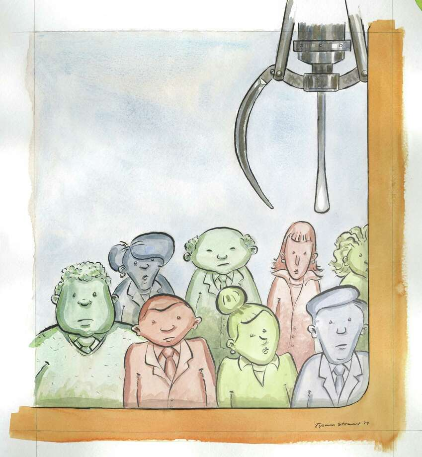 Recruiting artwork for Worklife cover story. Illustration by Tyswan Stewart / Times Union