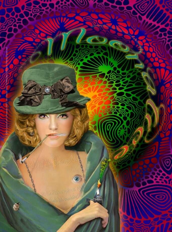 Rock posters by Carolyn Ferris.
