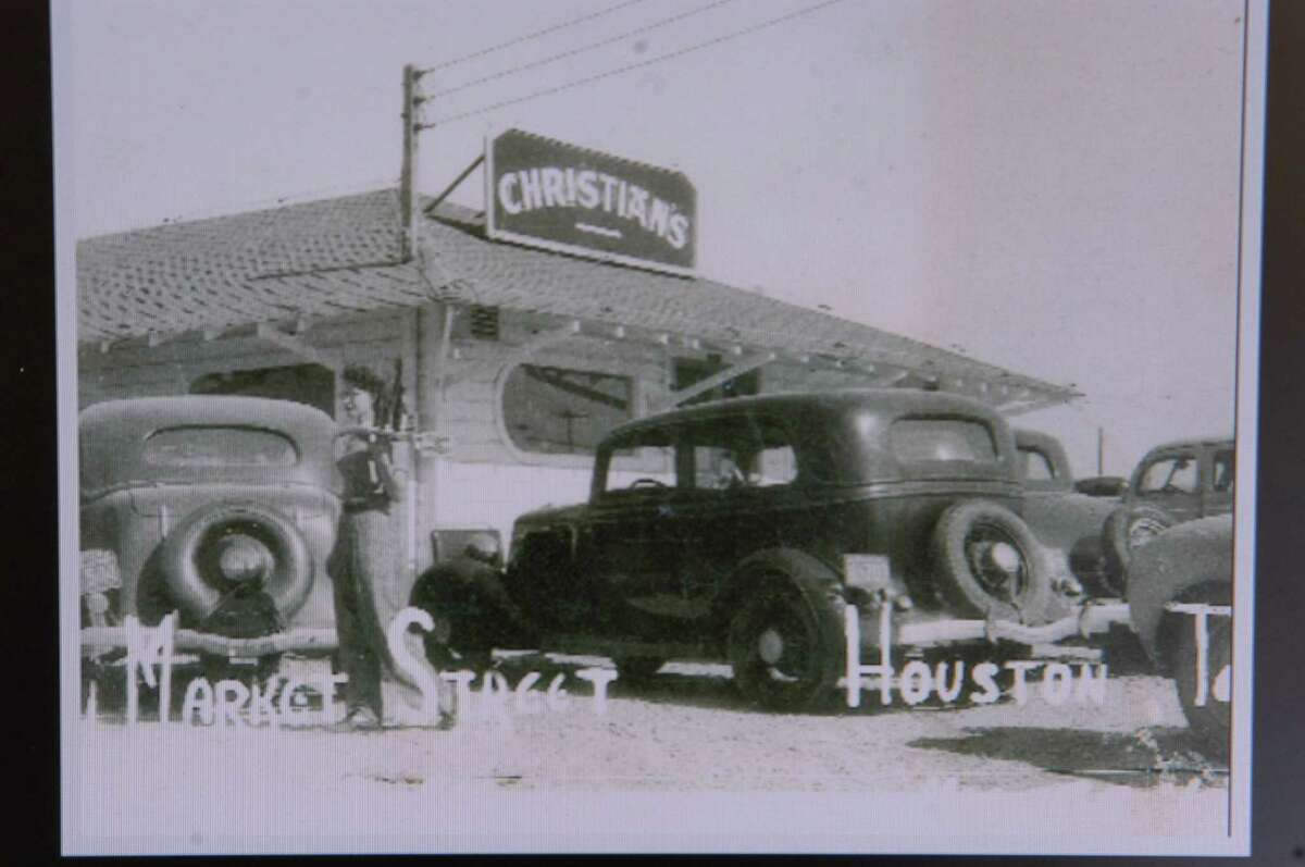 Steve Christian's great uncle's (Jean Christian) place on Market street in 1946. Steve Christian is a third-generation owner of Christian's Tailgate, a great hamburger place on Washington Ave. at Interstate 10 located in near northwest Houston. (E. Joe Deering/Chronicle)