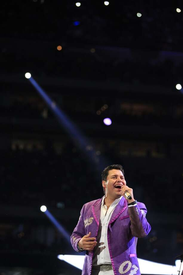 Banda Sinaloense MS, March 16Banda Sinaloense MS's vocalist and accordionist Beto Zapata had a quiet confidence that held everything together during their performance at the Houston Livestock Show and Rodeo. Photo: Johnny Hanson, Houston Chronicle