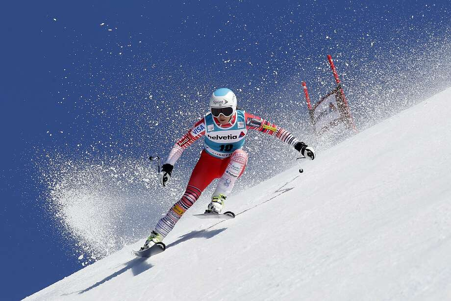 LENZERHEIDE, SWITZERLAND - MARCH 13: (FRANCE OUT) Julia Mancuso of the USA competes during the Audi FIS Alpine Ski World Cup Finals Women's Super-G on March 13, 2014 in Lenzerheide, Switzerland. (Photo by Alexis Boichard/Agence Zoom/Getty Images) Photo: Alexis Boichard/Agence Zoom, Getty Images
