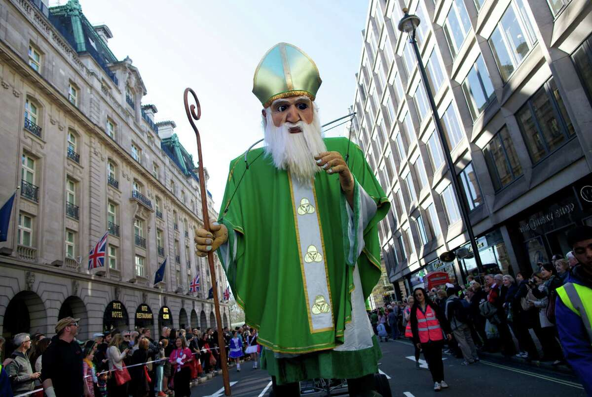 Ireland - Year:1916 A float passes through a St. Patrick's Day parade in central London on March 16, 2014.