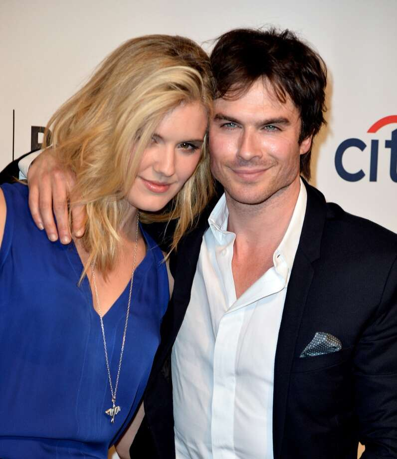 "Actors Maggie Grace (L) and Ian Somerhalder arrive at The Paley Center Media's PaleyFest 2014 Honoring ""Lost"" 10th Anniversary Reunion at the Dolby Theatre on March 16, 2014 in Los Angeles, California. Photo: Kevin Winter, Getty Images"