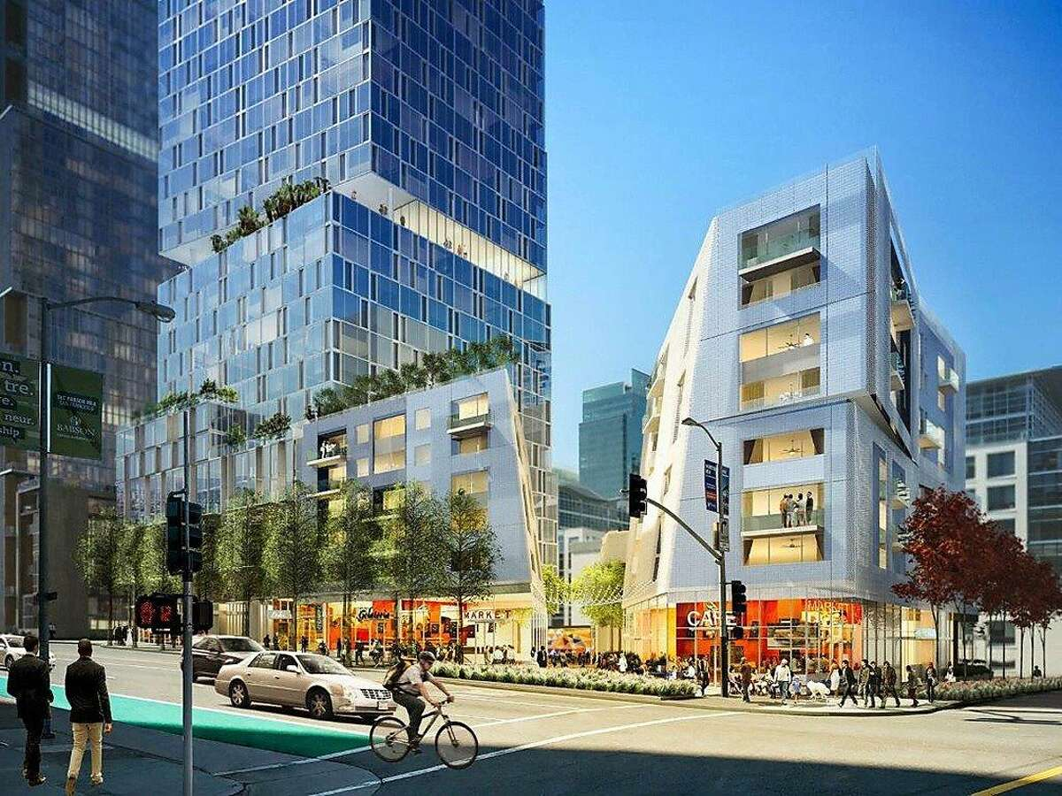 The proposed 550-foot residential tower for a city owned parcel on Folsom street is designed by Dutch architect, Rem Koolhaas led by developer Related of California.