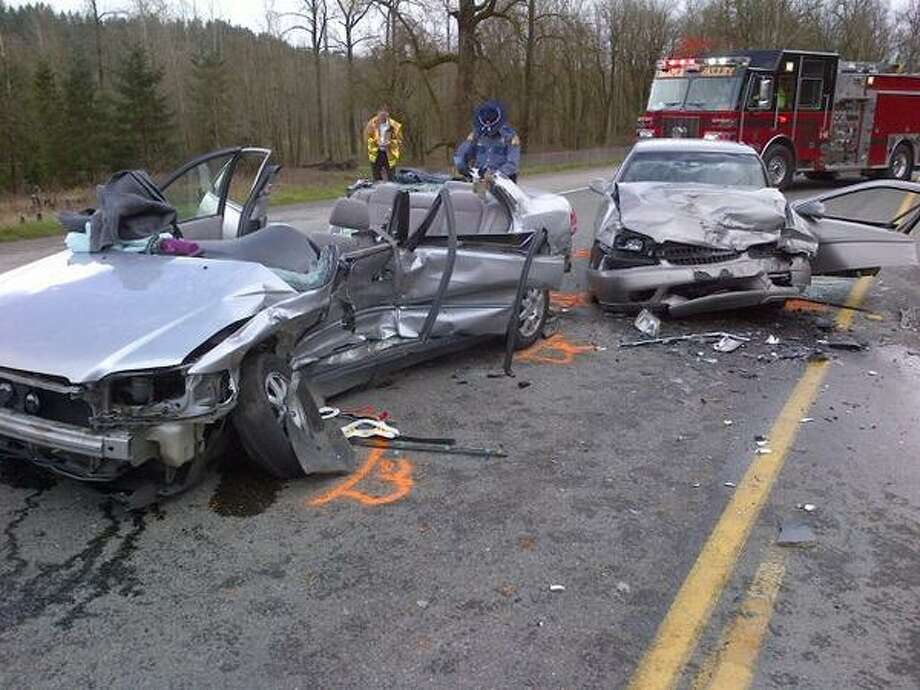 A 24-year-old woman and her unborn baby died during a collision Monday morning on state Route 169 east of Renton. An 18-month-old in the vehicle survived, as well as the 34-year-old woman in the other vehicle involved. Photo: State Patrol