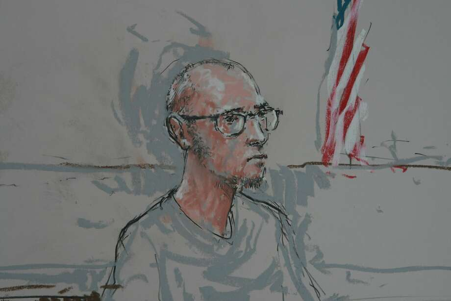 Nicholas Teausant is shown in Federal Court in this sketch, in Seattle, Washington, March 17, 2014.  Teausant, who prosecutors say was on his way to Syria to join an Islamist militant group, was arrested on March 17, 2014 near the U.S.-Canada border in Washington state on a charge of attempting to provide material support to a terrorist organization, federal officials said. Photo: Peter Millett, Reuters