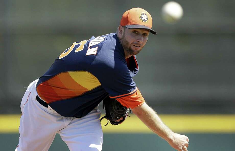 Scott Feldman signed a $30 million, three-year deal with the Astros. Feldman, who is 51-56 in his nine-year career, spent the first eight years with Texas. Photo: Carlos Osorio / Associated Press / AP