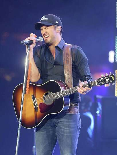 Country star Luke Bryan performs at the Houston Livestock Show and Rodeo in Houston, Texas.