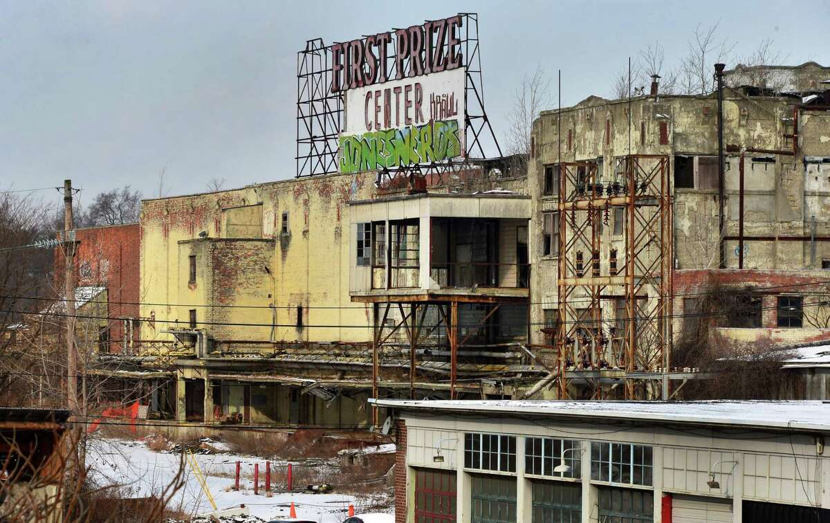 View of the former Tobin First Prize packing plant from Everett Road Wednesday, Dec. 11, 2013, in West Albany, N.Y. (John Carl D'Annibale / Times Union archive)