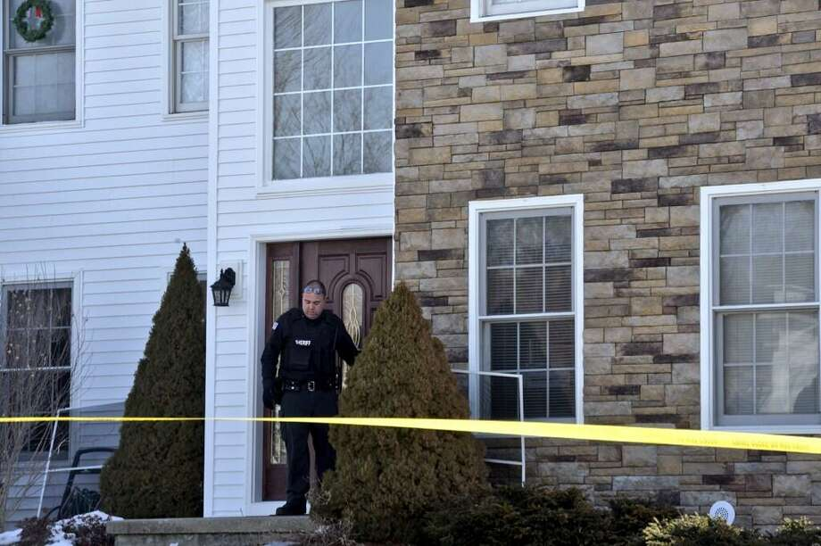 Police investigate at 37 Kent Place in Wynantskill after an initial report of a stabbing at that location. (Skip Dickstein/Times Union)