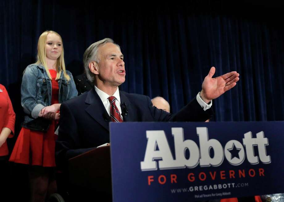 FILE - In this March 4, 2014, file photo, Texas Attorney General Greg Abbott talks to supporters during his victory party in San Antonio. He won the Republican nomination for Texas governor. On Wednesday, March 5, 2014, the state of Texas emerged from the nation's first primary of 2014 looking solidly Republican as ever. Now the Texas governor's race really begins _ and Democrat gubernatorial candidate Wendy Davis insists that, yes, it'll be a race. (AP Photo/Eric Gay, File) Photo: Associated Press / AP