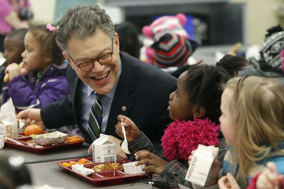 U.S. Sen. Al Franken (D-Minn.) ate lunch with Meadow Lake Elementary School students on Monday, March 17, 2014, in New Hope, Minn. (Elizabeth Flores/Minneapolis Star Tribune/MCT) Photo: Elizabeth Flores, McClatchy-Tribune News Service