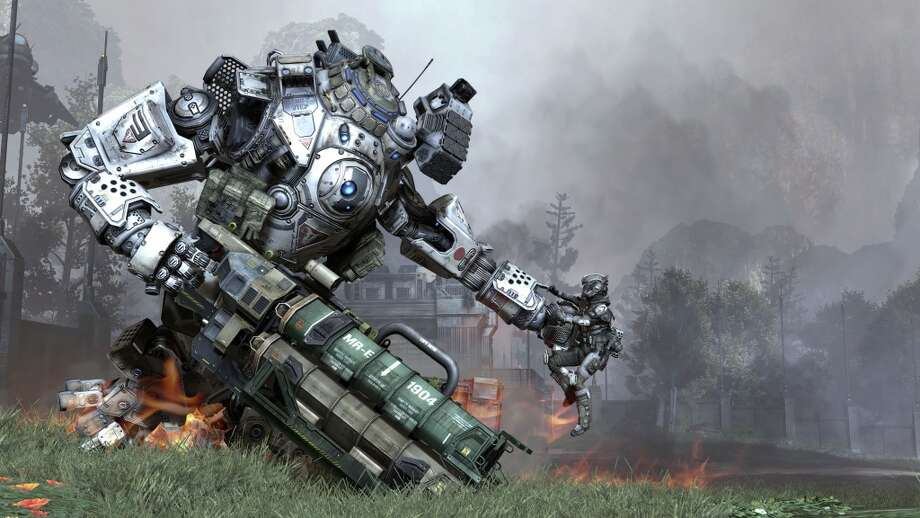 "In the video game, ""Titanfall,"" players can pilot mechs or have their Titan follow them on the battlefield."