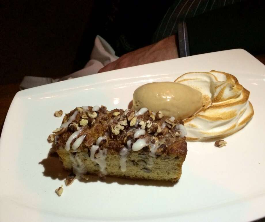 Chambers: Coffee cake with lavender meringue and balsamic ice cream ($9)