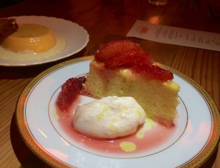 Penrose in Oakland: Olive oil cake with blood orange ($8)