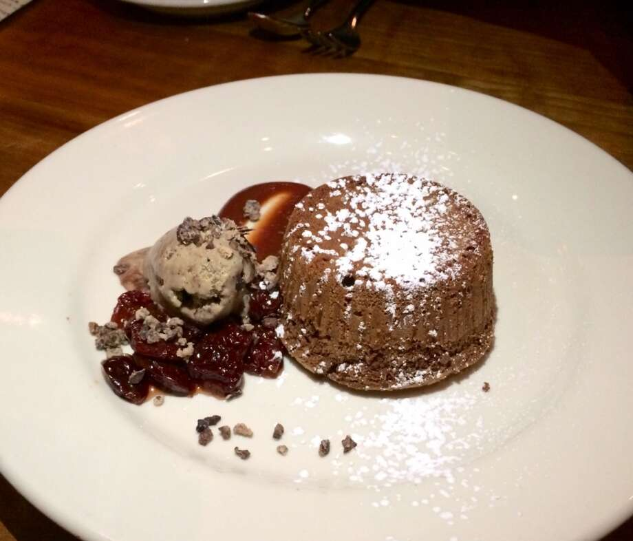Incanto: Chocolate cake with espresso gelato and cherries ($9)