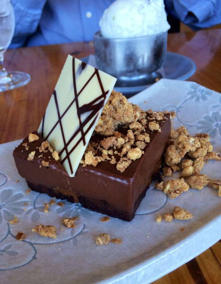 Slanted Door: Chocolate and peanut butter pie with peanut crumble ($10)