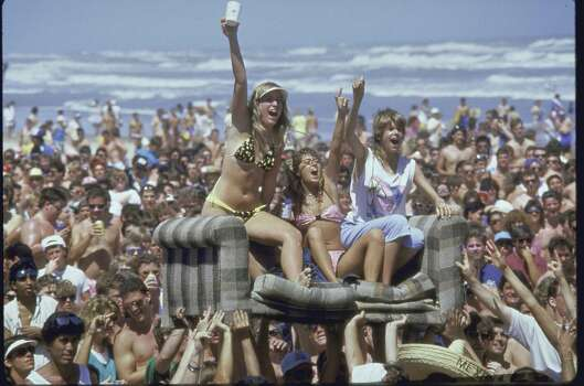 The more things change, the more they stay the same. Crowds of college students on the beach during spring break in the '80s.  (Photo by Shelly Katz//Time Life Pictures/Getty Images) Photo: Shelly Katz, Multiple / Shelly Katz